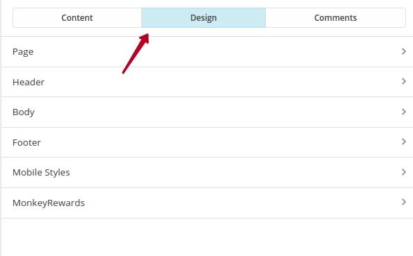 Цвет фона и подвал в MailChimp
