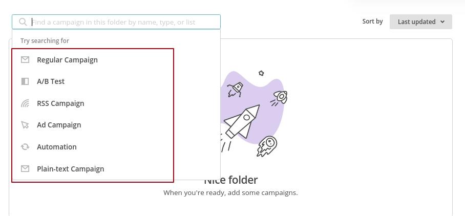 список кампаний в mailchimp