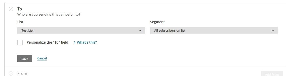Создание сегментов в mailchimp