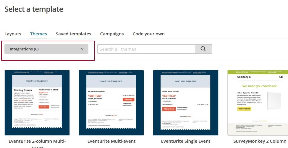 Шаблоны в MailChimp