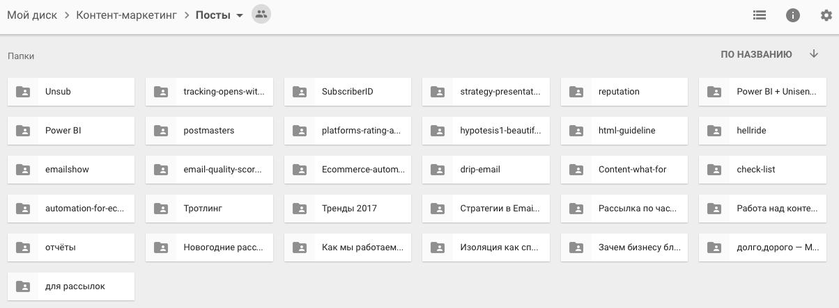 организация контент-маркетинга в компании — хранение файлов