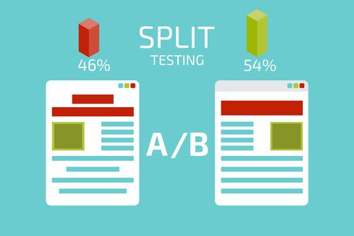 A-B comparison. Split testing. Concept vector illustration