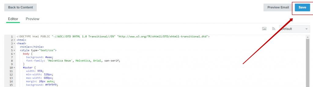 html-вёрстка в Klaviyo вставка кода