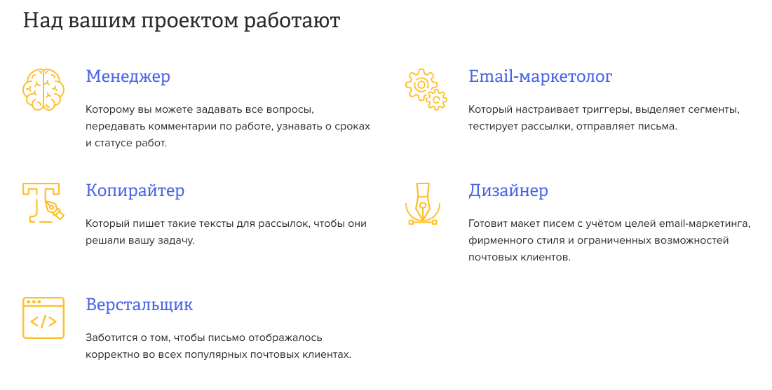 блок «команда проекта»