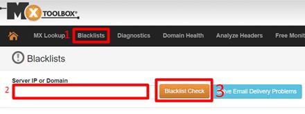 Проверка BLACKLIST на MXToolBox
