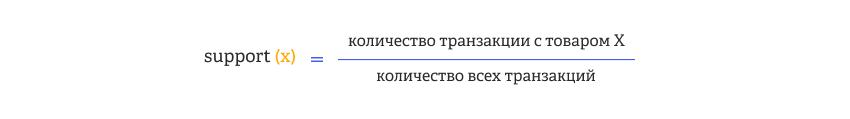 компонент support при подборе товарных пар