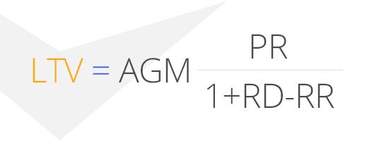 бизнес-аналитика, LTV - AGM_RR_RD