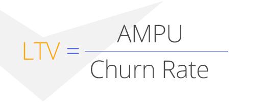 бизнес-аналитика, LTV - AMPU