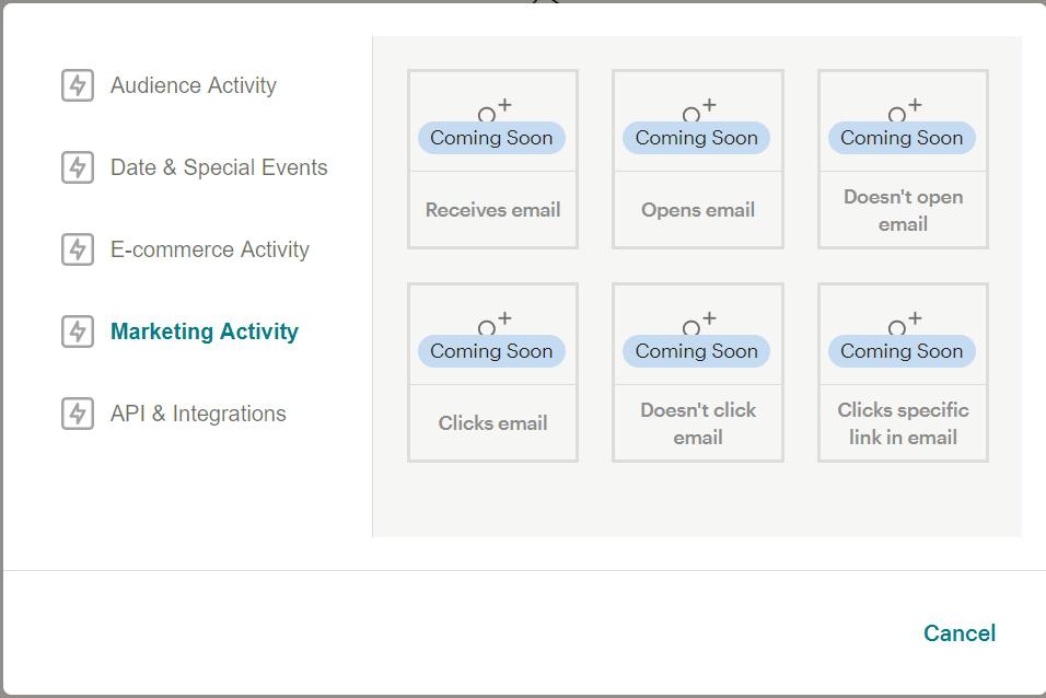 Customer Journey Map в MailChimp будущие опции
