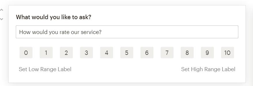 опрос в mailchimp выбор оценки
