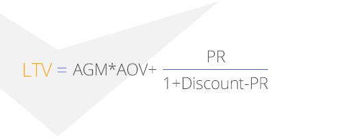 расчёт жизненной ценности клиента LTV вариант 2