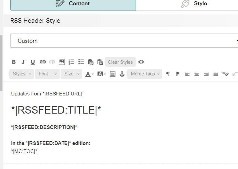 правим текст для настройки автоматической рассылки в mailchimp