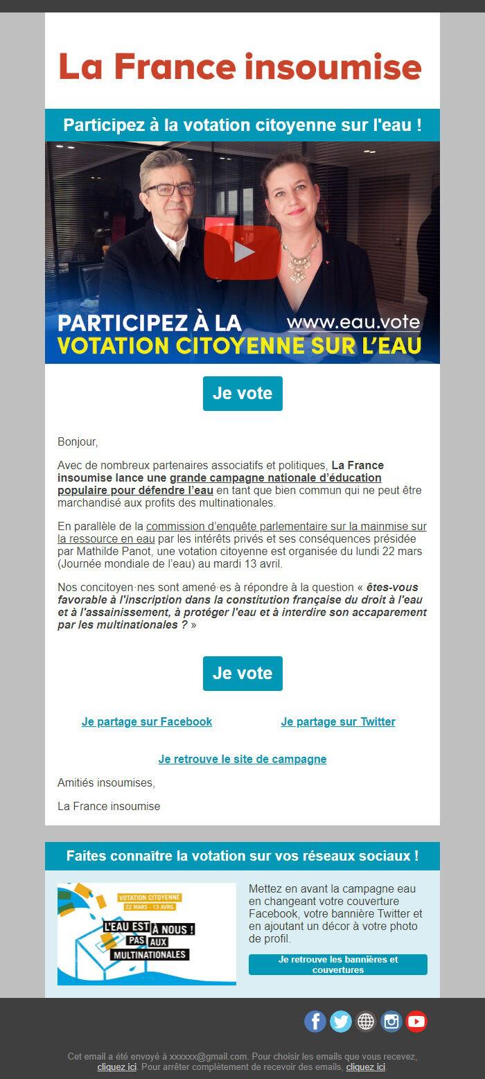 короткие письма в политичеком email-маркетинге франции