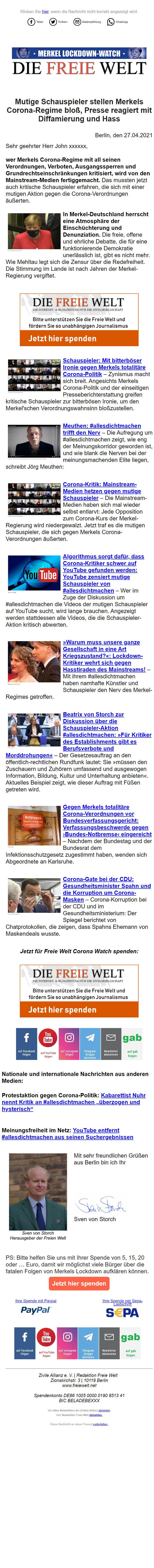 политический email-маркетинг в германии