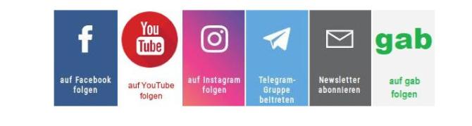 иконки соцсетей в политических рассылках германии