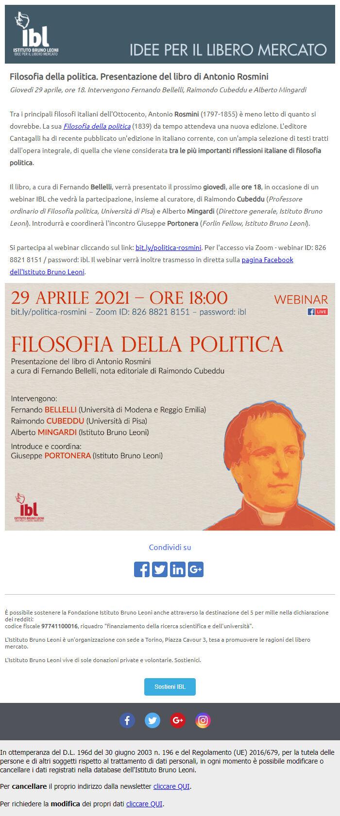 политические рассылки в италии
