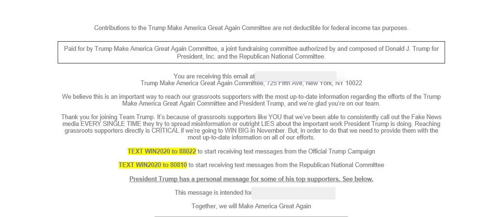 политический email-маркетинг у трампа 3