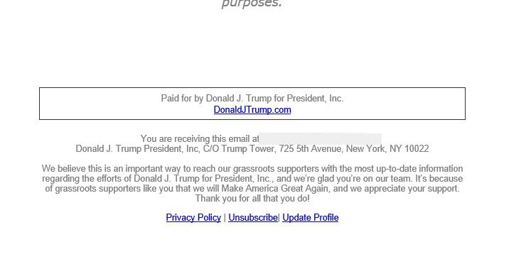 политический email-маркетинг у трампа 6