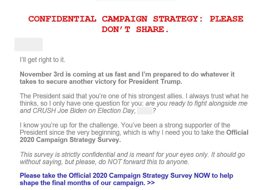 политический email-маркетинг у трампа 1